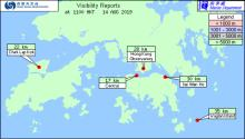 Visibility Readings in Hong Kong Waters